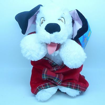 """Disney Parks 101 Dalmations """"Lucky"""" Dog Plush Doll Toy with Blanket 10"""" (NEW)"""