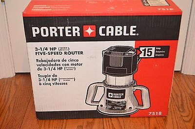 Porter Cable 7518 Speedmatic 15 Amp 3-1/4 HP Fixed Base 5-Speed Router