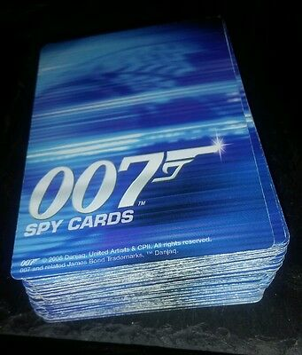 lot of 007 spy cards collection