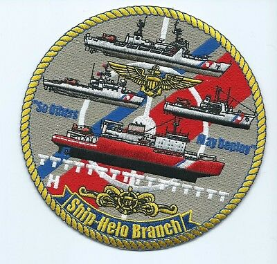 USCG United States Coast Guard Patch Ship Helo Branch so others may deploy 5 in