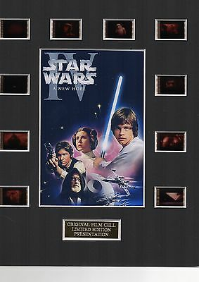 * Star Wars A New Hope 35mm Film Cell Display *