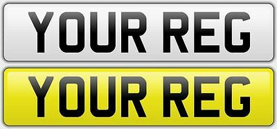 Front or Rear CAR NUMBER PLATES AND SHOW PLATES 100% ROAD LEGAL MOT COMPLIANT
