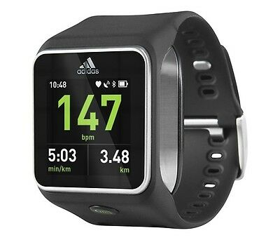 ADIDAS miCOACH SMART RUN BLACK GPS HEAR RATE MONITOR FITNESS WATCH BRAND NEW
