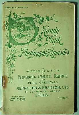 Reynolds and Branson Photographic catalogue c1907. Inc.Ross, Zeiss, Voigtlander.