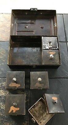 Antique American Tin Toleware Spice Box Circa Early 19th Century