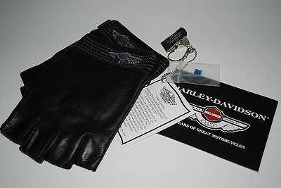 Harley-Davidson 100Th Anniv Mens Fingerless Gloves New W/tags 97101-03Vm Small