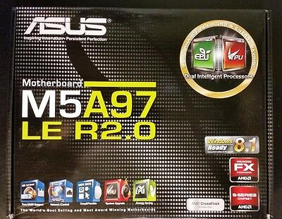 ASUS M5A97 LE, AM3+, AMD (M5A97 LE R2.0) ATX Motherboard **NEW**