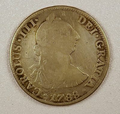 1788 - 4 Reales Silver Coin from Mexico