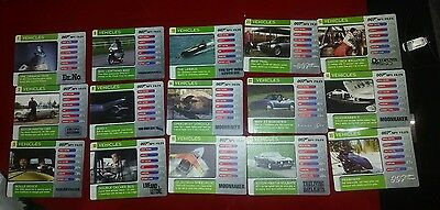 15 007 Spy Files Vehicles Trading Cards ,please read description for numbers