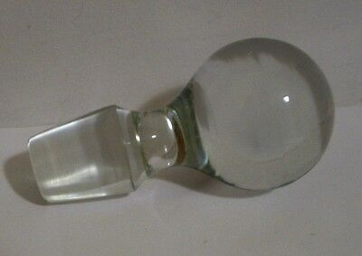 Large Clear Glass Bottle Decanter Stopper