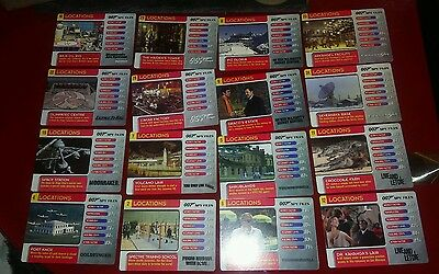 16 007 Spy Files locations Trading Cards ,please read description for numbers