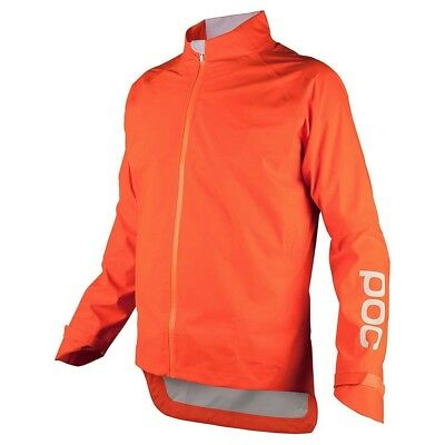 POC AVIP Rain Cycling Jacket Zink Orange - POC Bike Jacket - Medium