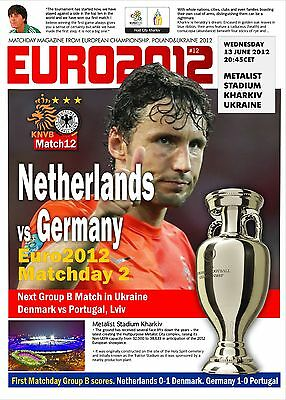 Programme Netherlands v Germany 2012 Euro.Unofficial