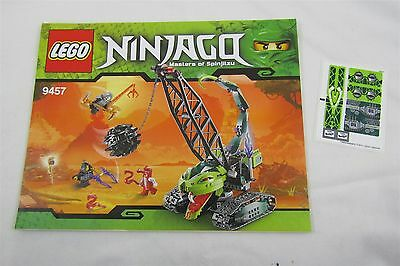 LEGO 9457 NINJAGO Fangpyre wrecking ball  Instructions Manual & Stickers Only