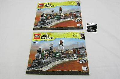 LEGO 79111 LONE RANGER Constitution Train  Instructions Manuals & Stickers Only