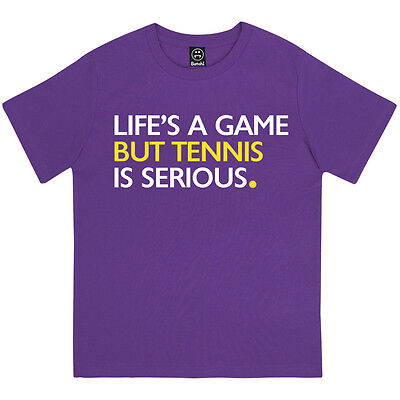 Lifes A Game But Tennis Is Serious Boys Wimbledon Grand Slam Kids T-Shirt