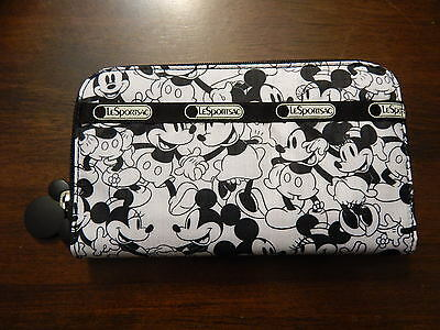 NWT LeSportsac Lily Wallet Disney Minnie Mouse $65 Mickey Loves Minnie