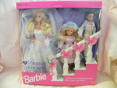 New  Barbie  Dream Wedding  Barbie, Stacie and Todd Dolls (1993) Limited Edition