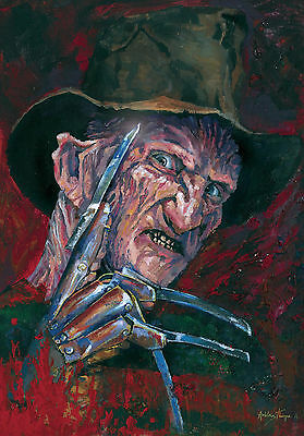 FREDDY KRUEGER - LTD Edition signed numbered prints by FANGORIA artist