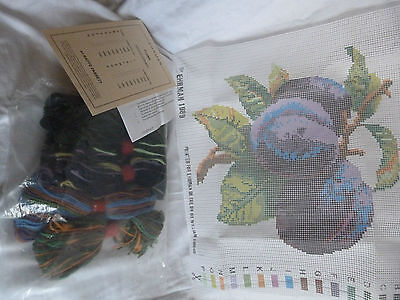 EHRMAN TAPESTRY KIT RARE Plums Fruits KAFFE FASSETT 1989 Wool Retired  kit