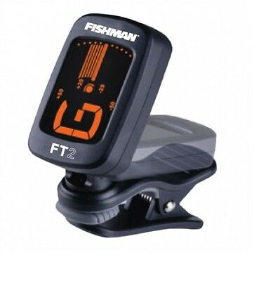 FISHMAN FT-2 Digital Chromatic Black Clip On Acoustic Guitar Tuner ACC-TUN-FT2