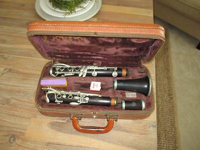 Vintage 1947 Selmer Paris Depose N Series Wood Clarinet W/ Case BT