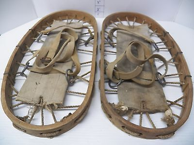 Antique Snowshoes   Military Snow Shoes  Bear Paw