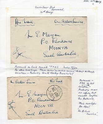 1946, On Active Service, India, Air Mail,14th Army x 2,#1451