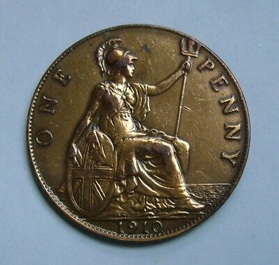 Great Britain 1 Penny 1910, Ruler: Edward VII