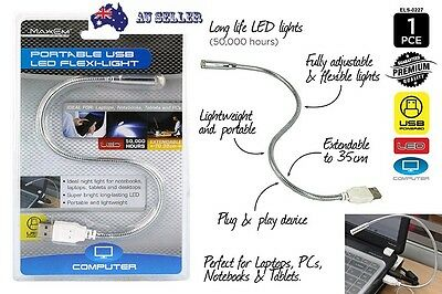 Portable USB Flexible LED Light Lamp for Laptop Notebook PC Computer Reading