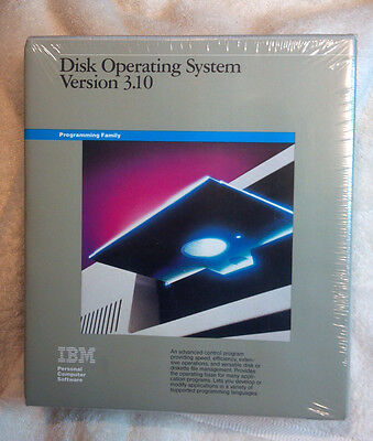 Vintage IBM DOS Disk Operating System Version 3.10 Unopened