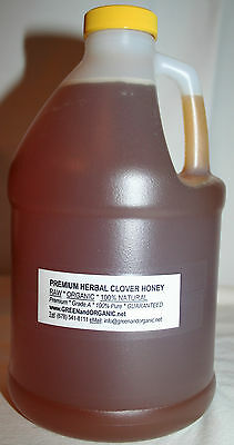 5Lbs ORGANIC 100%Natural PURE REAL CLOVER HONEY Raw Grade A Unrefined 2.27Kg