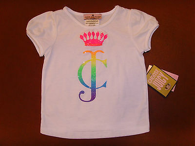 NEW Juicy Couture Infant/Baby Girl Top White T-Shirt Size 12M