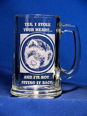 Ferret Etched Glass Mug - Yes, I Stole Your Heart and I'm Not Giving It Back
