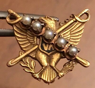 Scabbard & Blade Military 14k Solid Gold Fraternity Badge Pin