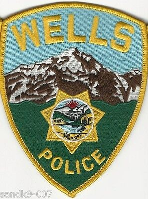 Wells Police State of NEVADA NV Shoulder Patch Full Color Scenic