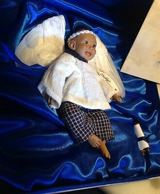 """Daddy Angel Babies African American doll """"Noa"""" in Box with Paperwork"""