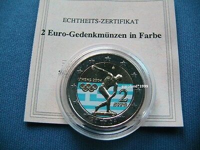 2 Euro Olympia 2004 In Farbe - Griechenland - Bankfrisch