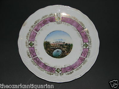 Arch Rock Mackinac Island OLD plate German vintage antique FREE SHIPPING
