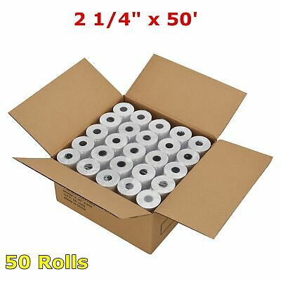 "2 1/4"" x 50' Thermal Receipt Paper POS Cash Register Tape 50 Rolls Free Shipping"