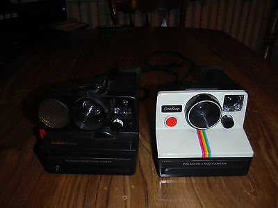 Polaroid SX-70 One Step and Sonar One Step Land Camera Lot of 2