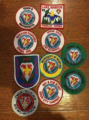 10 Mint 1985 Diamond Jubilee 75th Patches Twin Rivers Union City RRV Upper Cape