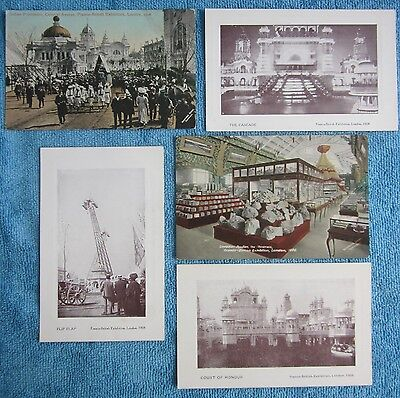 antique 1908 FRANCO BRITISH EXHIBITION Indian Progression Colonial Ave POSTCARD