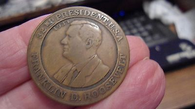 Franklin Roosevelt FDR Medal 1933 Saint St.Louis Union May Stern FREE US SHIP
