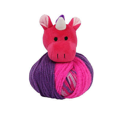 TOP THIS! UNICORN YARN KIT, Knit a Hat and Top it with a Plush Unicorn! NEW