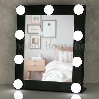 Christmas Vanity Lighted Hollywood Makeup Mirror Dimmer Stage Beauty Touch Black