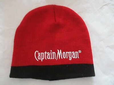 Brand New! CAPTAIN MORGAN Red and Black Knit Hat Winter Official Capt. Gear!