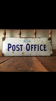 Antique Canadian Post Office Sign Early 1900-1910 Original