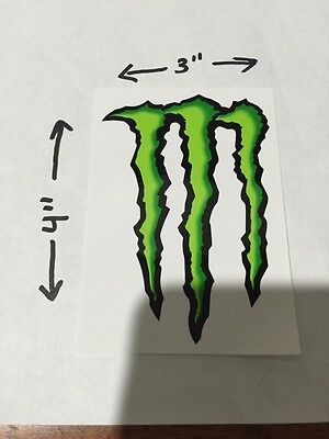 """Monster Energy Drink DECAL STICKER 4"""" X 3"""" Lot Of 5"""