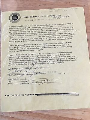 Anne Baxter Signed Autograph Contract